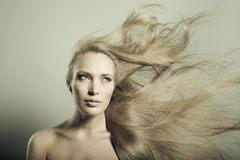 Beautiful woman with magnificent hair Stock Photo