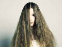 Beautiful woman with magnificent hair Royalty Free Stock Photos