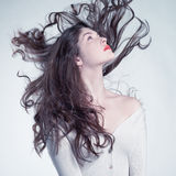 Beautiful woman with magnificent hair. Photo of young beautiful woman with magnificent hair Stock Photos