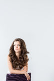 Beautiful woman with magnificent hair Royalty Free Stock Image