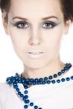 Beautiful woman and make-up. Royalty Free Stock Image