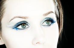 Beautiful woman and make-up. Stock Photography