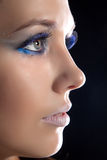 Beautiful woman and make-up. royalty free stock photo