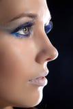 Beautiful woman and make-up. Royalty Free Stock Photo