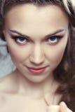 Beautiful woman with make up stock photos