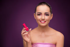 The beautiful woman in make up concept Stock Images