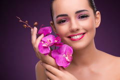 The beautiful woman in make up concept Stock Photography