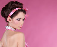 Beautiful woman with make-up and hair style Royalty Free Stock Photography