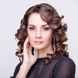Beautiful woman with make-up studio shooting Stock Photos