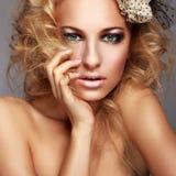 Beautiful woman with makeup Stock Photography