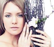 Beautiful woman with makeup Stock Images