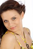 Beautiful Woman. Makeup & Fashion.Portrait Of A Be Royalty Free Stock Image