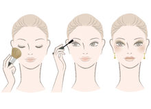 Beautiful woman on makeup procedure Royalty Free Stock Images
