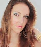 Beautiful woman makeup Stock Image