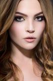 Beautiful woman with makeup Stock Photos