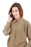 Beautiful woman making a call on her mobile phone Stock Photos