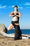 Beautiful woman is making yoga exercises Stock Photography