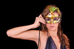 Beautiful woman in mask Royalty Free Stock Photography