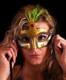 Beautiful woman in mask Stock Photo