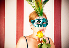 Beautiful woman with mask Stock Photo
