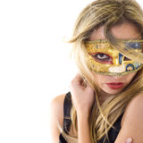 Beautiful woman with mask Stock Photo