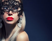 Beautiful woman in mask Royalty Free Stock Photo
