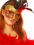 Beautiful woman in mask Stock Photography