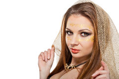 Beautiful woman with a mask on face Stock Photography