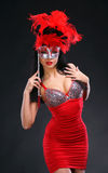 Beautiful woman with a mask Royalty Free Stock Photo