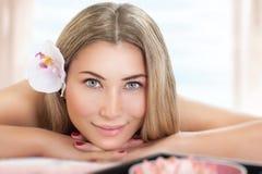 Beautiful woman on massage Stock Photo