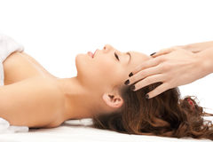 Beautiful woman in massage salon Royalty Free Stock Photos