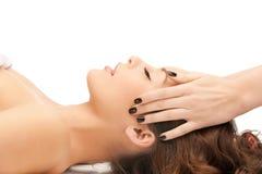 Beautiful woman in massage salon Stock Photo