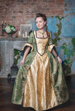 Beautiful woman in medieval dress Stock Image