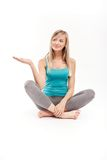 Beautiful woman meditating Royalty Free Stock Images