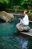 Beautiful woman meditating Royalty Free Stock Photography
