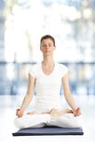 Beautiful woman meditating Royalty Free Stock Photo