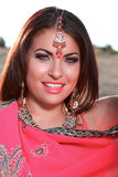 Beautiful Woman with Middle Eastern Makeup Royalty Free Stock Photo