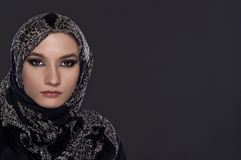Beautiful Woman in Middle Eastern Niqab veil Royalty Free Stock Image