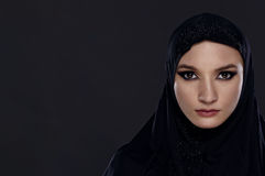 Beautiful Woman in Middle Eastern Niqab veil Stock Photos