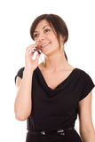 Beautiful woman with mobile phone. Stock Photo