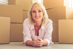 Beautiful woman moving Stock Photo