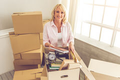 Beautiful woman moving Royalty Free Stock Photos