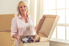 Beautiful woman moving Royalty Free Stock Photo