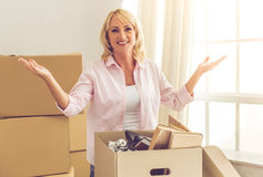 Beautiful woman moving Stock Photos