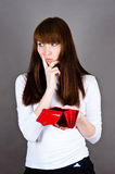 Woman much thought Royalty Free Stock Photography