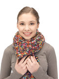 Beautiful woman in muffler Stock Image