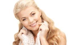 Beautiful woman in muffler Royalty Free Stock Photo