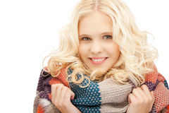 Beautiful woman in muffler Stock Photo
