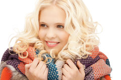 Beautiful woman in muffler Royalty Free Stock Photo