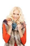 Beautiful woman in muffler Royalty Free Stock Photos